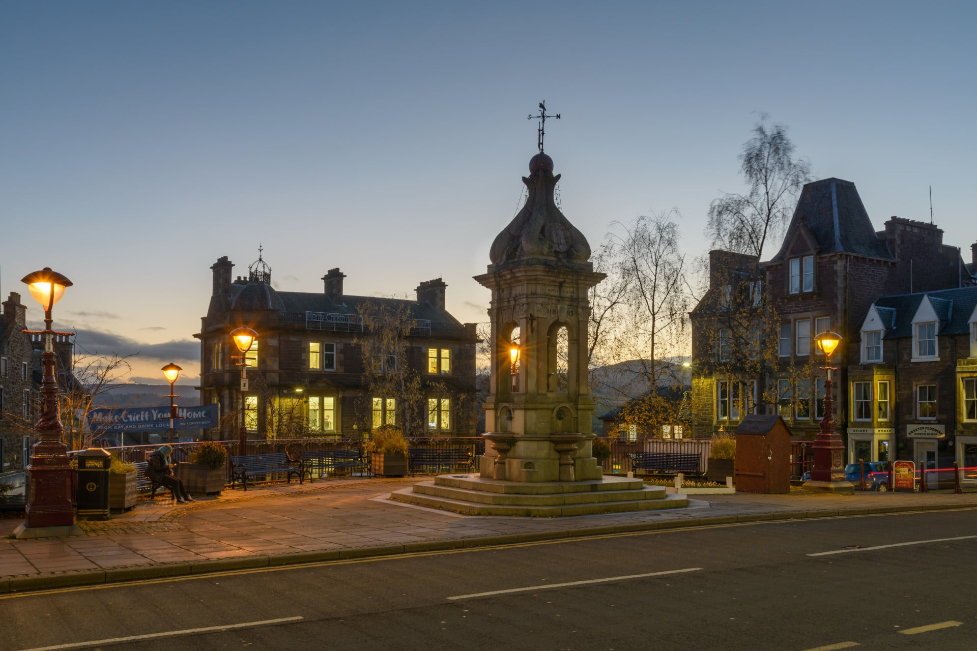 Evening in James Square, Crieff