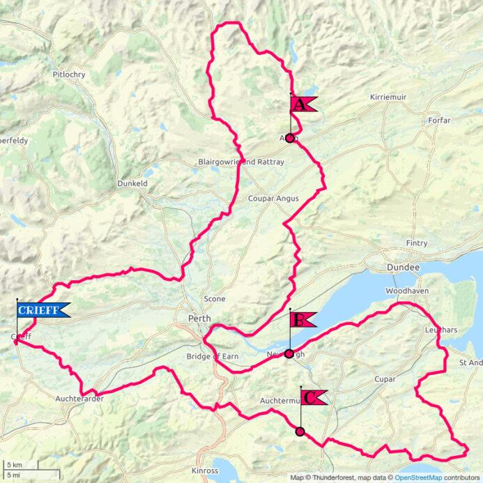 Crieff Cloverleaf East - Topological Map
