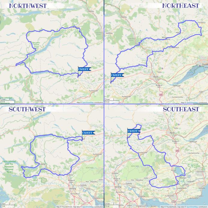 Crieff Cloverleaf Little Leaf - Regular Map