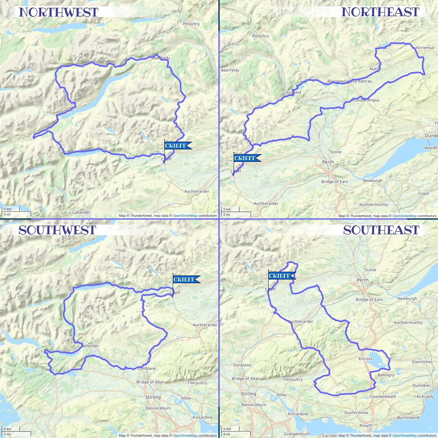 Crieff Cloverleaf Little Leaf - Topological Map
