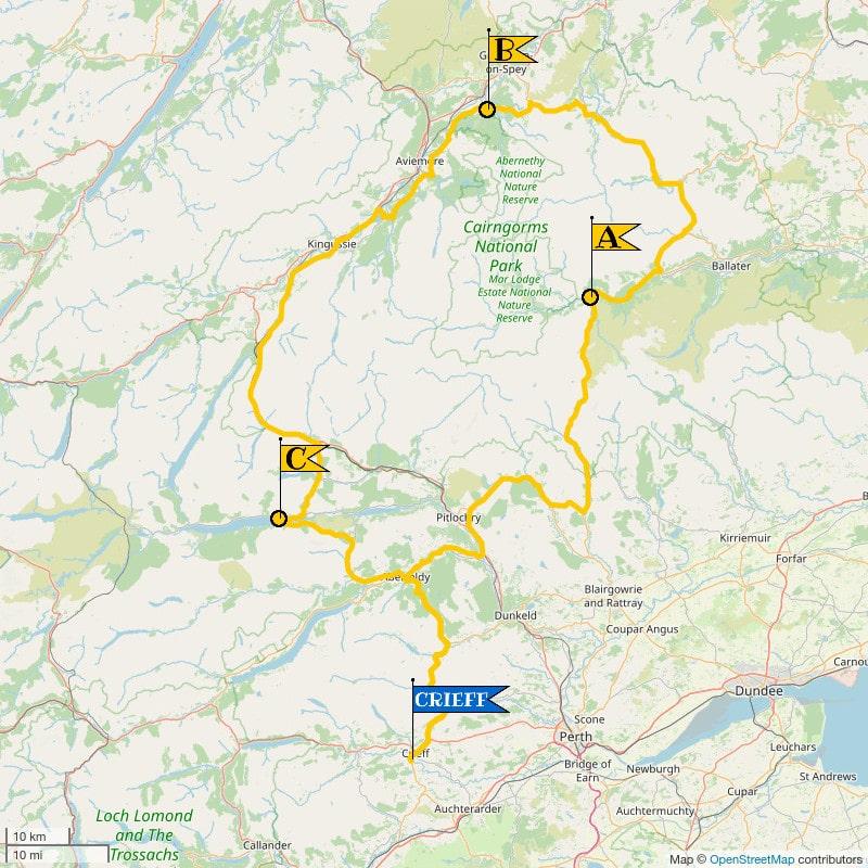 Crieff Cloverleaf North - Regular Map