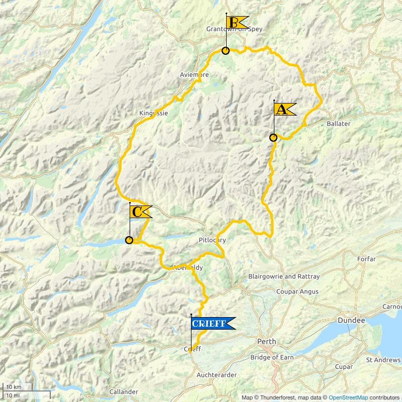 Crieff Cloverleaf North - Topological Map