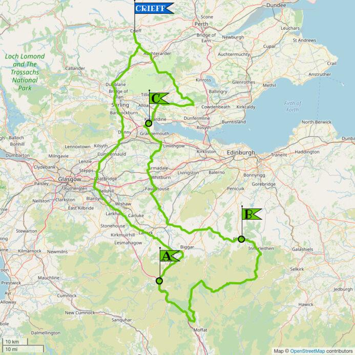 Crieff Cloverleaf South - Regular Map