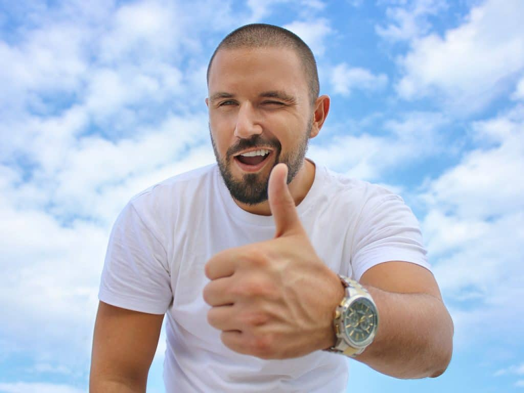 Guy giving thumbs-up