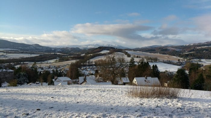 Mountain Vista From Crieff, The Perfect Base For Motorcycle Touring In Scotland