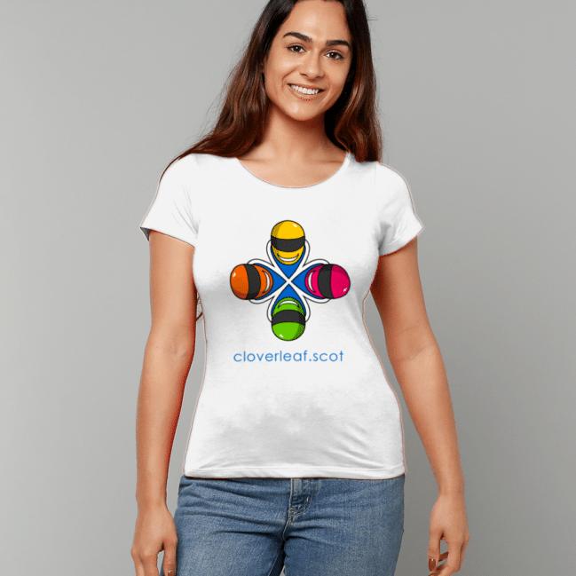 Cloverleaf Logo Women's Fitted T-Shirt