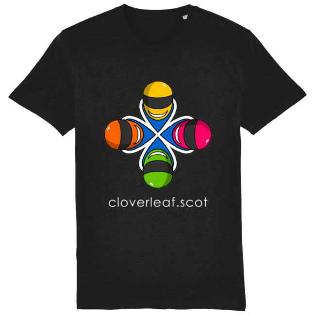 Cloverleaf Logo – Unisex Tee (Black)