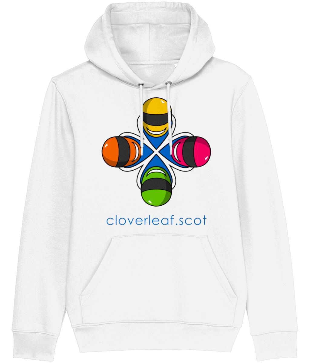 Cloverleaf Logo – Unisex Hoodie (White)