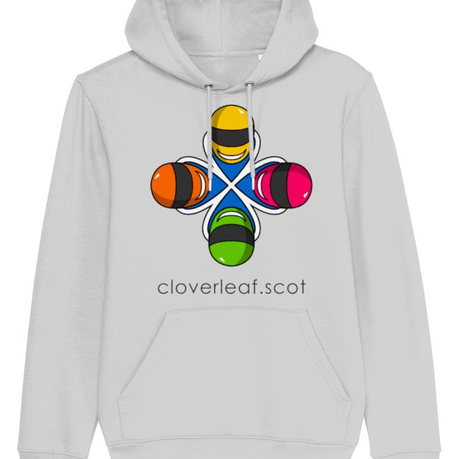 Cloverleaf Logo – Unisex Hoodie (Heather Grey)