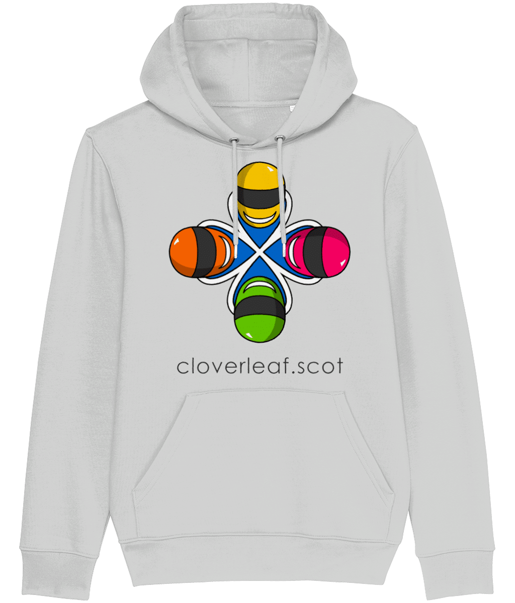 Cloverleaf Logo – Unisex Hoodie (Heather Grey)