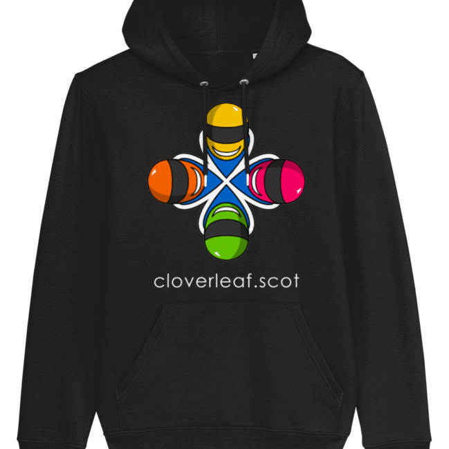 Cloverleaf Logo – Unisex Hoodie (Black)
