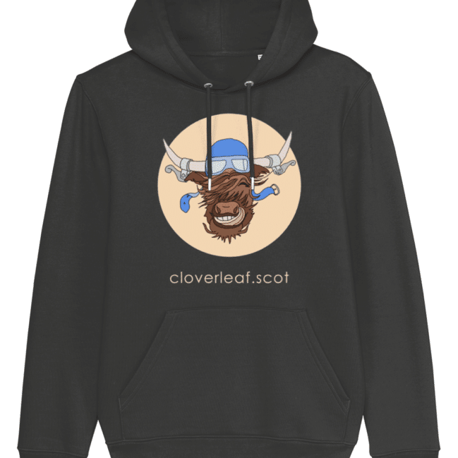 Cloverleaf Coo – Unisex Hoodie (Dark Heather Grey)