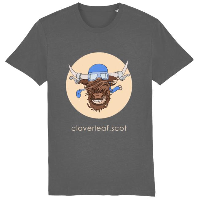 Cloverleaf Coo – Unisex Tee (Anthracite)