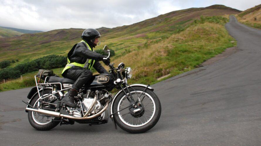 A Biker Riding Bends In Scotland