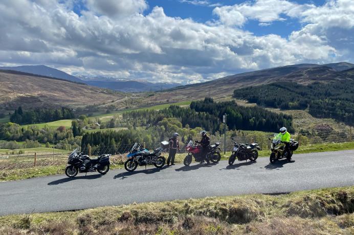 Riders on the Crieff Cloverleaf North