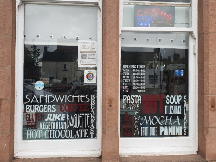 The Cafe In The Square In Alyth Is Motorcycle Rider Friendly