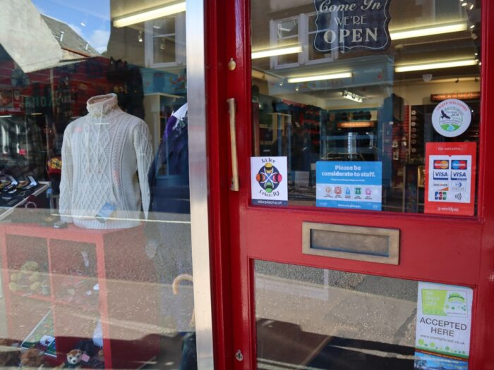 House Of Tartan In Crieff Is Motorcycle Rider Friendly